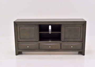 Gray Emily TV Stand by Crown Mark Facing Front | Home Furniture Plus Mattress