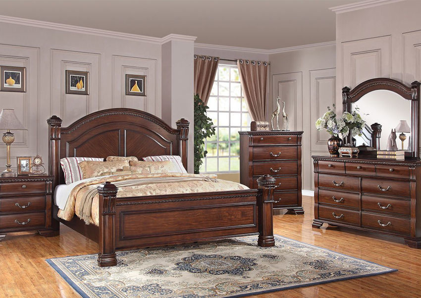 Isabella Queen Size Bedroom Set Brown