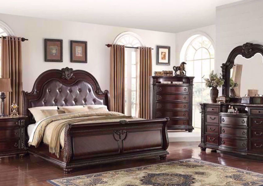 Picture of Stanley Queen Size Bedroom Set - Brown