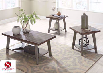 Brown Fairhaven Coffee Table Set by Standard  in a Room Setting | Home Furniture Plus Bedding