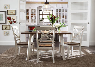Picture of Amelia 5 Piece Dining Table Set - White
