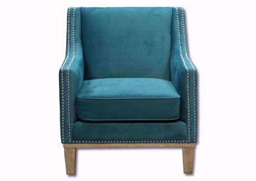 Augusta Accent Chair in Teal Blue Front Facing