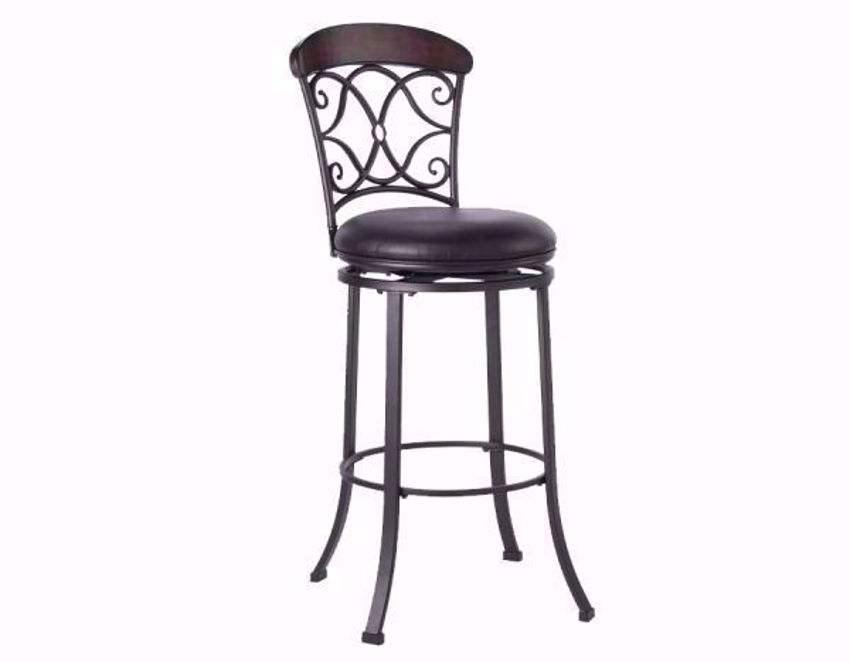 Dark Brown Aurora 30 Inch Bar Stool at an Angle | Home Furniture Plus Bedding