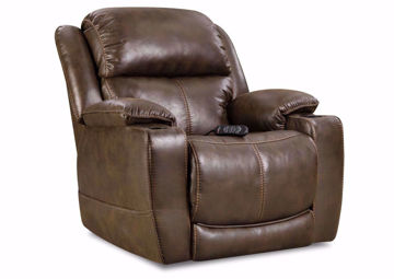 Dark Brown Badlands POWER Theatre Recliner by Homestretch at an Angle | Home Furniture Plus Mattress