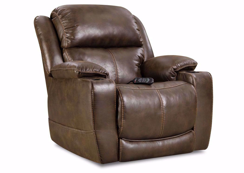 Badlands POWER Theatre Recliner with Dark Brown Upholstery | Home Furniture Plus Bedding
