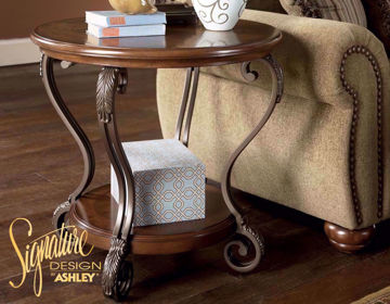 Side View of Nestor End Table in Room Setting by Ashley Furniture | Home Furniture Plus Mattress