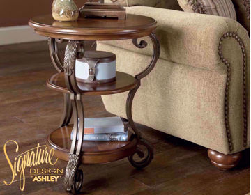 Side View of Nestor Recliner Table in Room Setting by Ashley Furniture | Home Furniture Plus Mattress