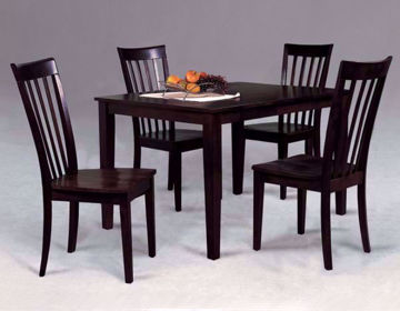 Brody 5 Piece Dining Table Set, Dark Brown, Room View | Home Furniture Plus Bedding