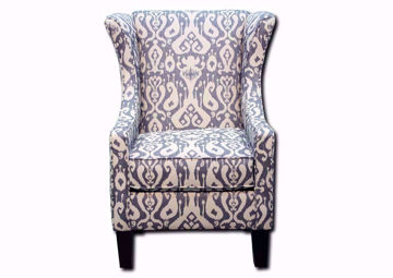 Casbah Accent Chair With a Multi-Color Patterned Upholstery Facing Front | Home Furniture Plus Mattress