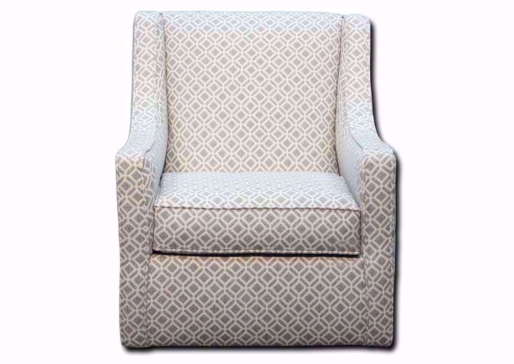 Picture of: Delray Swivel Accent Chair Gray Home Furniture Plus Bedding