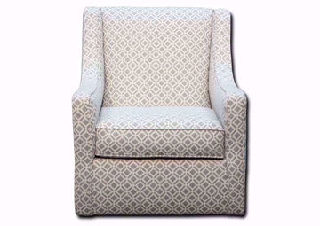Delray Swivel Accent Chair With a Gray Patterned Upholstery Facing Front | Home Furniture Plus Mattress