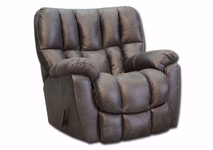 Denver Rocker Recliner with Dark Gray Microfiber Upholstery | Home Furniture Plus Bedding