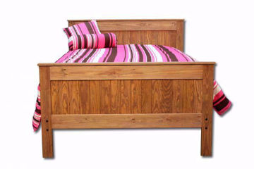 Light Brown Duncan Full Bed Facing Front | Home Furniture Plus Bedding