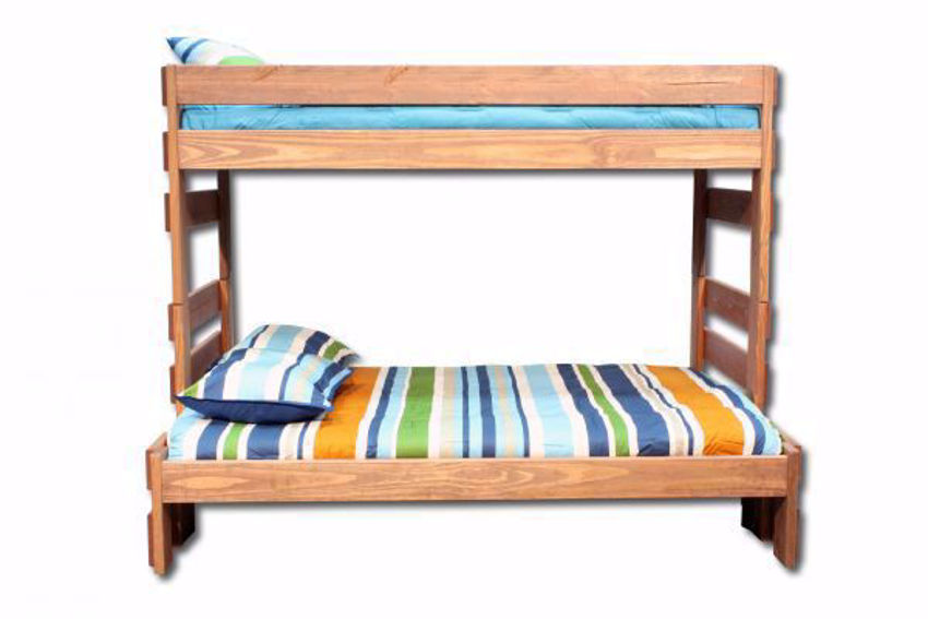 Duncan Twin over Full Bunk Bed, Light Brown, Front Facing | Home Furniture Plus Bedding