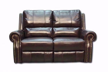 Top Grain Dark Brown Leather Gunnison Reclining Loveseat by  Man Wah  | Home Furniture + Mattress