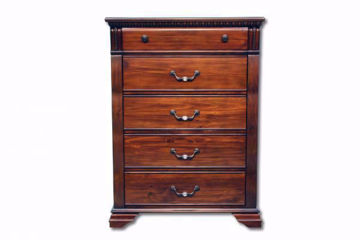 Warm Brown Isabella Chest of Drawers Facing Front | Home Furniture Plus Mattress
