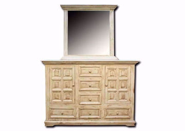 Jasper Dresser with Mirror, White, Front Facing | Home Furniture Plus Mattress