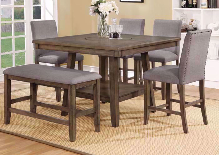 Manning Bar Height Dining Table Set - Brown