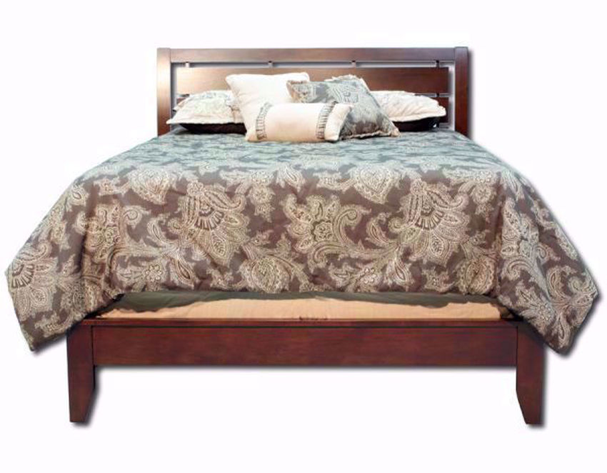 Cherry Brown Marshall Queen Bed Facing Front | Home Furniture Plus Bedding