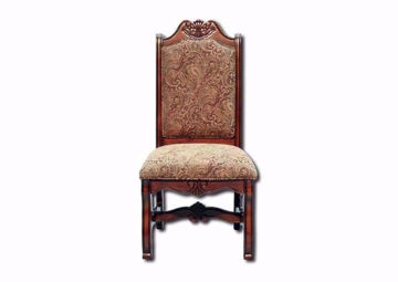 Renaissance Side Chair, Brown, Front Facing | Home Furniture Plus Bedding