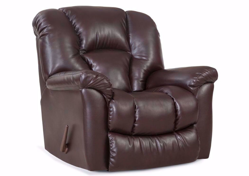 Riverside Rocker Recliner with Dark Brown Microfiber Upholstery | Home Furniture Plus Bedding