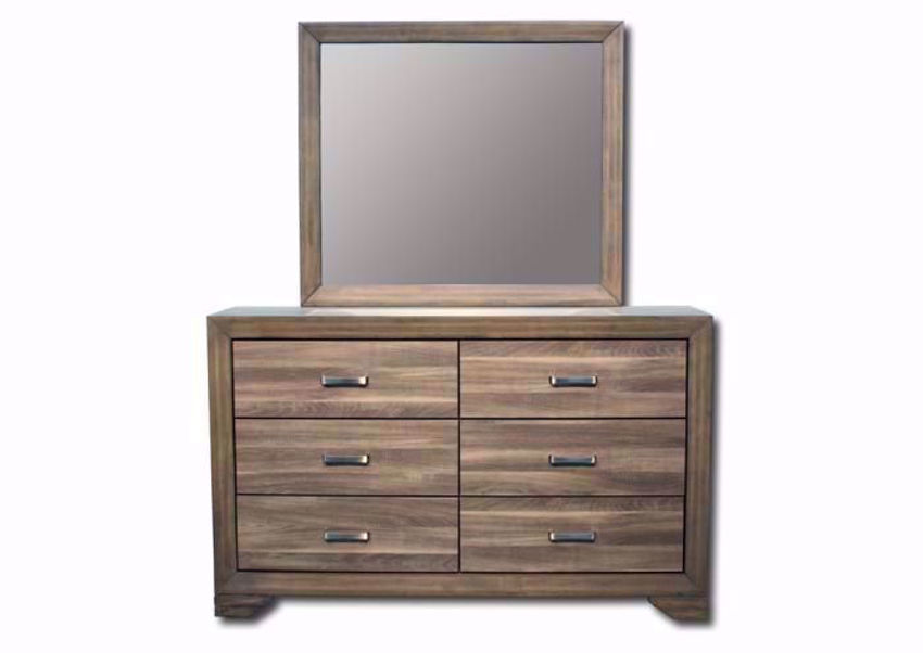 Brown Asheville Dresser with Mirror Facing Front | Home Furniture Plus Mattress