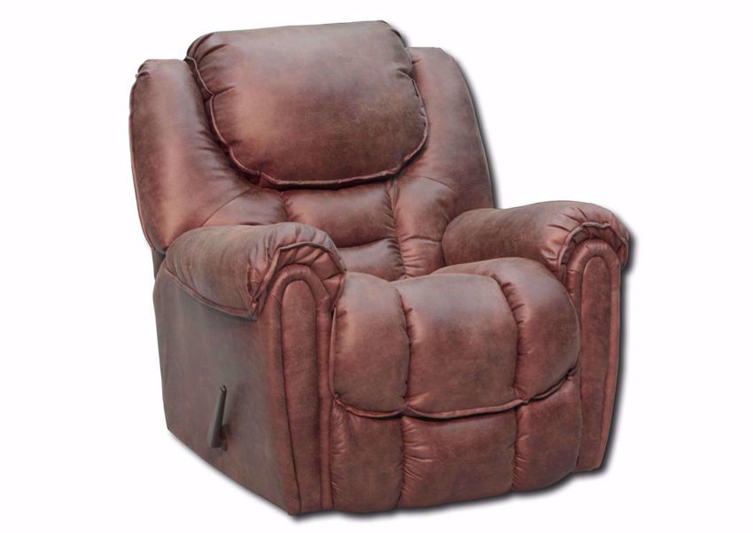Slightly Angled View of the Mocha Brown Santa Monica Recliner by Homestretch | Home Furniture Plus Mattress