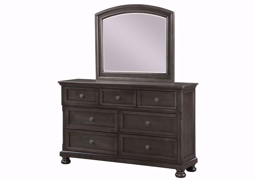 Dark Gray Sofia Dresser with Mirror at an Angle | Home Furniture Plus Mattress