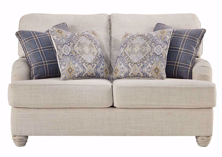 Off White Traemore Loveseat with Accent Pillows by Ashley Furniture | Home Furniture Plus Bedding