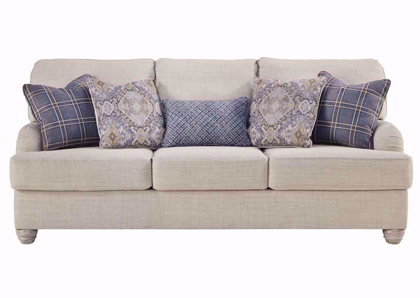 Off White Traemore Sofa with Accent Pillows by Ashley Furniture | Home Furniture Plus Bedding