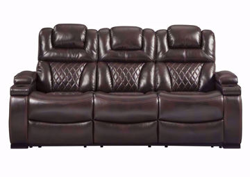 Front Facing Warnerton POWER Reclining Sofa by Ashley Furniture | Home Furniture Plus Bedding