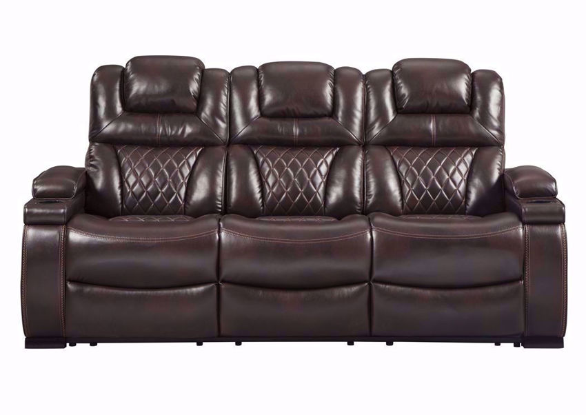 Brown Front Facing Warnerton POWER Reclining Sofa by Ashley Furniture | Home Furniture Plus Bedding