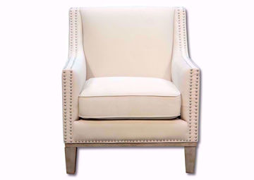 Augusta Accent Chair, Cream, Front Facing | Home Furniture Plus Bedding