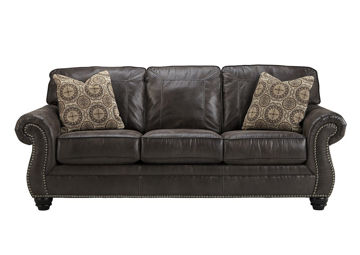 Gray Breville Sofa by Ashley Furniture with Accent Pillows | Home Furniture + Mattress