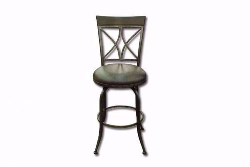 Gray Killona 24 Inch Bar Stool Facing Front | Home Furniture Plus Mattress