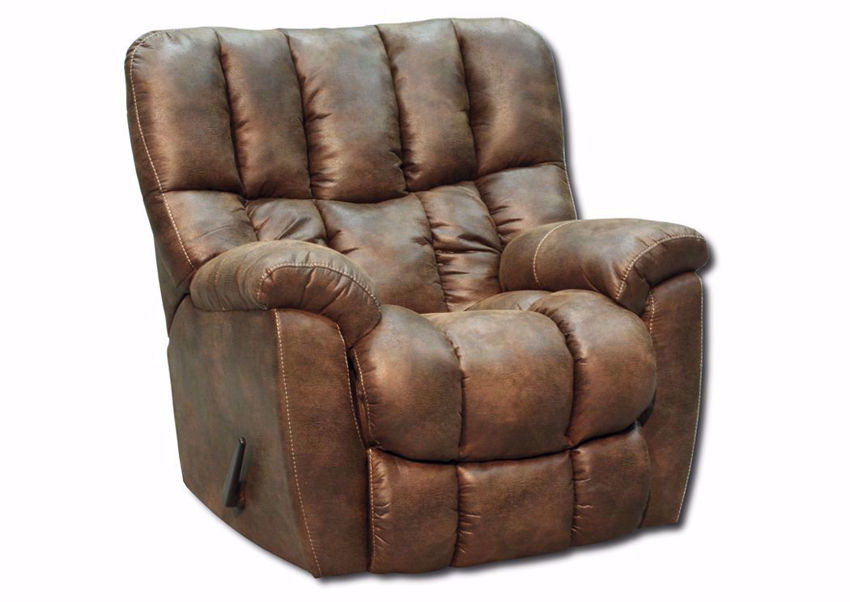 Rawlings Rocker Recliner with Brown Microfiber Upholstery | Home Furniture Plus Bedding