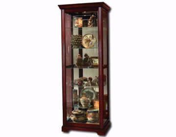 Brown Glass Sabrina Curio Cabinet at an Angle | Home Furniture Plus Mattress