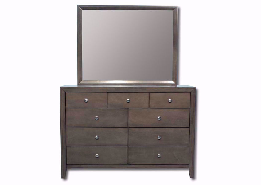 Warm Gray Marshall Dresser with Mirror Facing Front | Home Furniture Plus Mattress