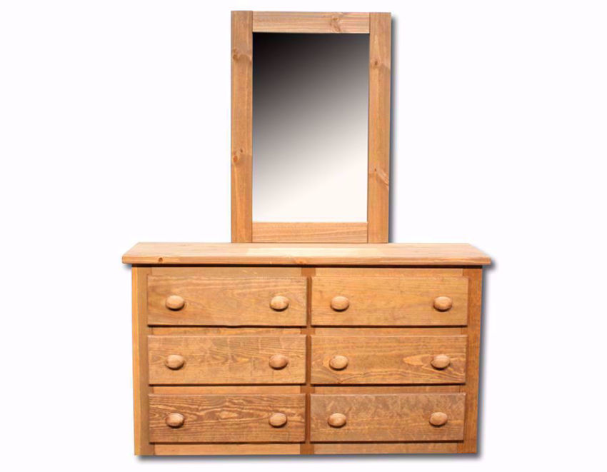 Light Brown Duncan Dresser with Mirror Facing Front | Home Furniture Plus Mattress