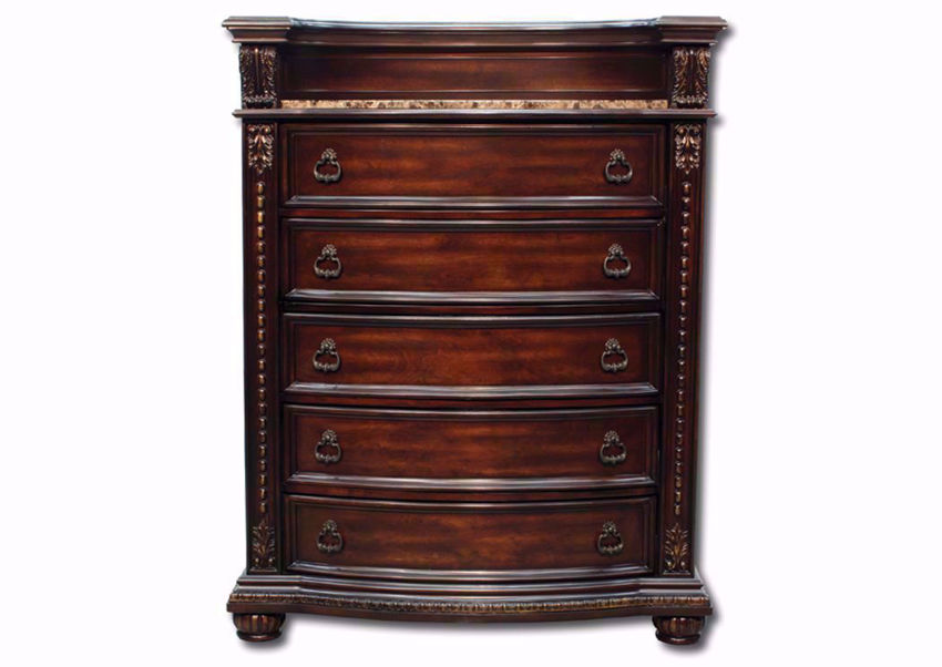 Rich Dark Brown Stanley Chest of Drawers Facing Front | Home Furniture Plus Mattress