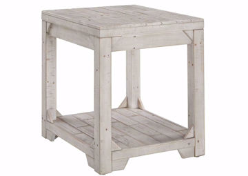 Fregine End Table by Ashley Furniture with Whitewash Finish | Home Furniture Plus Bedding