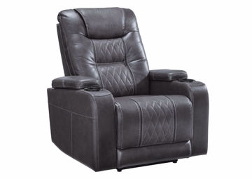 Composer Power Activated Gray Recliner by Ashley Furniture | Home Furniture Plus Bedding