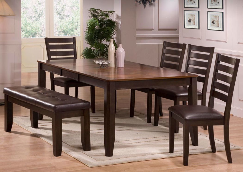 Hennesy 6 Piece Dining Table Set Dark