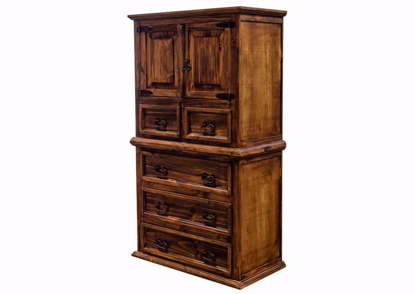 Rustic Natural Brown Amarillo Door Chest of Drawers at an Angle | Home Furniture Plus Mattress
