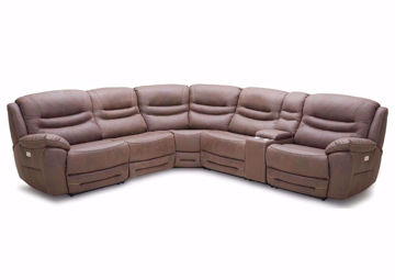 Brown Dakota POWER Sectional Sofa, Front Facing | Home Furniture Plus Mattress