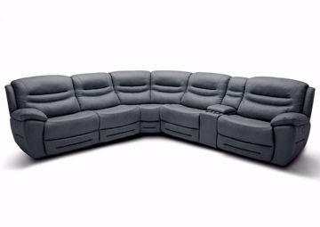Gray Dakota POWER Sectional Sofa, Front Facing | Home Furniture Plus Mattress