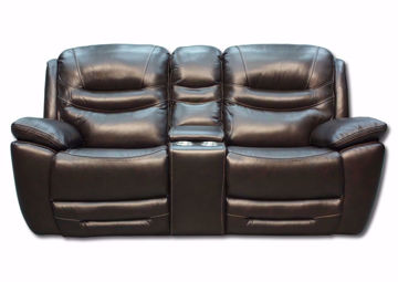 Picture of Dallas POWER Reclining Loveseat - Brown