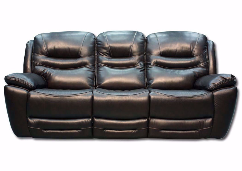 Front Facing View of the Dallas POWER Reclining Sofa - Brown  | Home Furniture Plus Bedding
