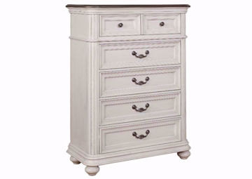 White Keystone Chest of Drawers at an Angle | Home Furniture Plus Mattress