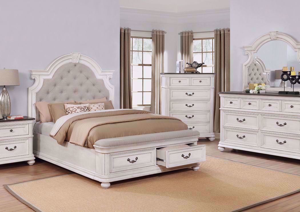 Keystone Queen Size Bedroom Set White Home Furniture Plus Bedding